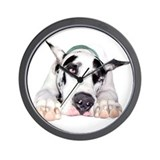 Great Dane Shy Harlequin Wall Clock