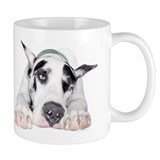 Great Dane Shy Harlequin Mug