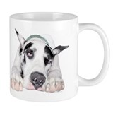 Great Dane Shy Harlequin Small Mugs