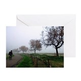 Foggy Rider Greeting Cards (Pk of 20)