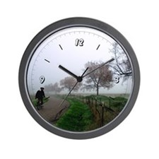 Foggy Rider Wall Clock