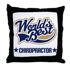 Worlds Best Chiropractor Throw Pillow