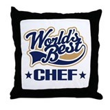 Worlds Best Chef Throw Pillow