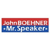 John Boehner - Mr. Speaker Bumper Sticker