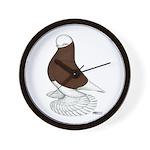 Muffed Tumbler Red Bald Wall Clock