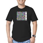 HDCP Master Key Color Grid Men's Fitted T-Shirt (d