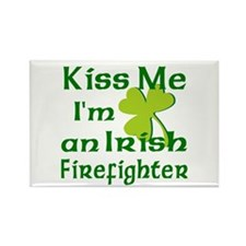 Kiss Me I'm an Irish Firefighter Rectangle Magnet
