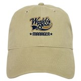 Worlds Best Manager Baseball Cap