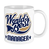 Worlds Best Manager Small Mugs
