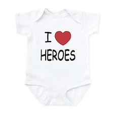 I heart heroes Infant Bodysuit
