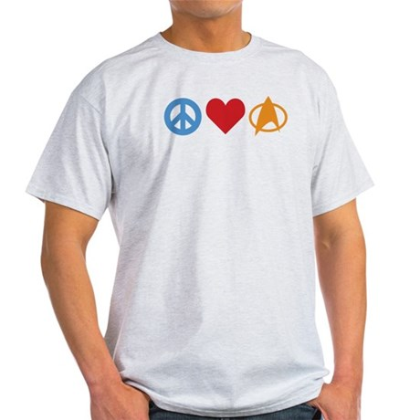 Peace Love Star Trek Light T-Shirt