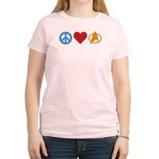 Peace Love Star Trek Women's Light T-Shirt