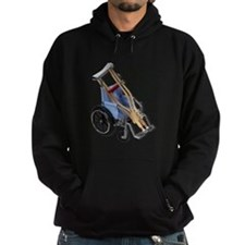 Crutches Wheelchair Hoodie