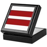 Latvia Flag Keepsake Box
