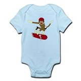 Sock Monkey Skateboarder Onesie