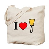 I Heart Bells Tote Bag