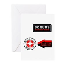 Scrubs Sacred Heart Greeting Cards (Pk of 10)