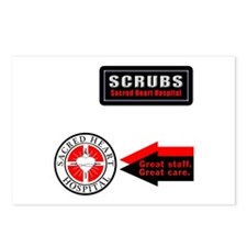 Scrubs Sacred Heart Postcards (Package of 8)