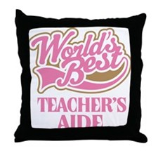 Worlds Best Teachers Aide Throw Pillow