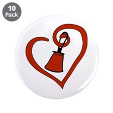 "Cute Hand bells 3.5"" Button (10 pack)"