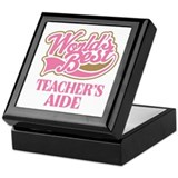 Worlds Best Teachers Aide Keepsake Box