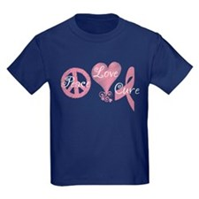 Peace Love Cure (Pink Ribbon) T