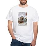 Japanese Samurai Warrior Nagamasa White T-Shirt