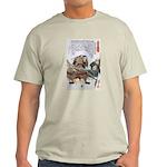 Japanese Samurai Warrior Nagamasa (Front) Light T-