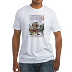 Japanese Samurai Warrior Nagamasa (Front) Fitted T