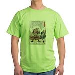 Japanese Samurai Warrior Nagamasa (Front) Green T-