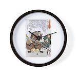 Japanese Samurai Warrior Nagamasa Wall Clock