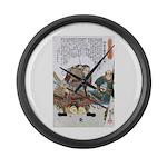 Japanese Samurai Warrior Nagamasa Large Wall Clock