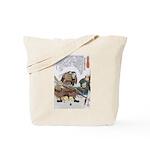 Japanese Samurai Warrior Nagamasa Tote Bag