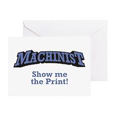 Machinist / Print Greeting Card