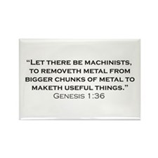 Machinist / Genesis Rectangle Magnet