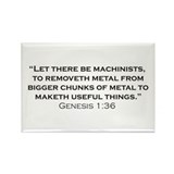 Machinist / Genesis Rectangle Magnet (100 pack)