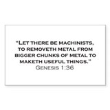 Machinist / Genesis Bumper Stickers