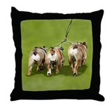 Bull Dogs Butts Throw Pillow