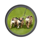 Bull Dogs Butts Wall Clock