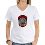 Moreno Valley Death City Women's V-Neck T-Shirt