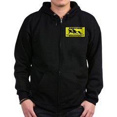 Caution Undocumented Democrat Zip Hoodie (dark)