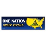 One Nation Under Revolt Bumper Sticker