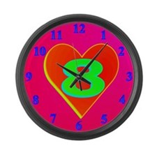 LUV 8 Large Wall Clock