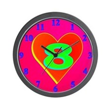LUV 8 Wall Clock