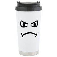 Smiley angry Ceramic Travel Mug