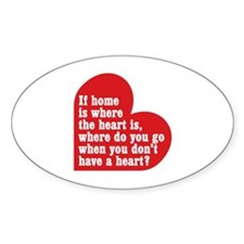 Dexter: Home Heart Sticker (Oval)