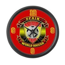 Spain World Soccer Power 2010 Large Wall Clock