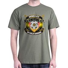 Germany World Soccer Military Green T-Shirt