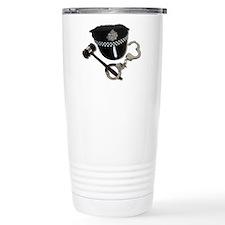 Handcuffs Gavel Police Hat Travel Mug