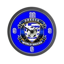 Greece Soccer Power Wall Clock